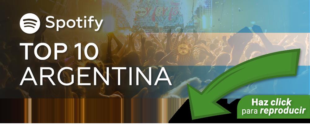 Playlist Top 10 Spotify Argentina ESP